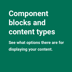 Component blocks and content types