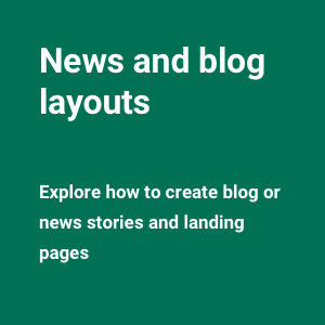 News and blog layouts