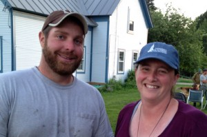 Snug Valley Farm's Ben Notterman and the Pasture Program's Jenn Colby.