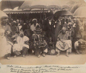 Egba Kings with Umbrellas