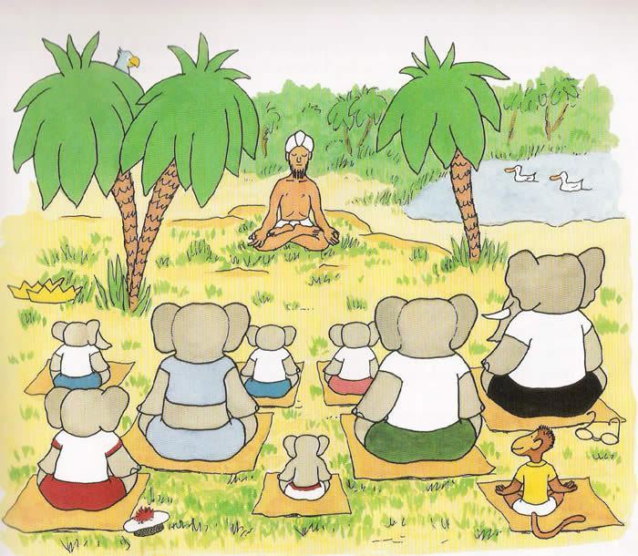 Babies, Babar, and Yoga
