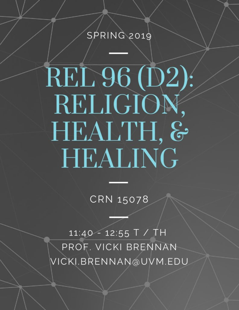 Spring 2019 Courses: Religion, Health, & Healing