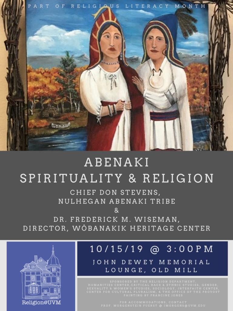 Religious Literacy Month: Abenaki Spirituality and Religion