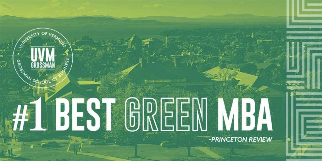 For Second Straight Year, We're The #1 Green MBA in the Nation
