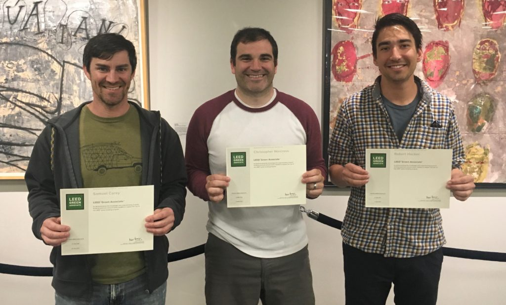 Three Students Become LEED Green Associates, Eye Further LEED Accreditation