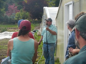A 2014 on-farm irrigation workshop.