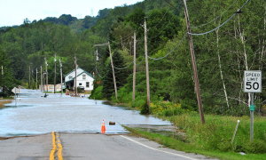 Picture of Flood Waters on Route 2 in Bolton, Vermont