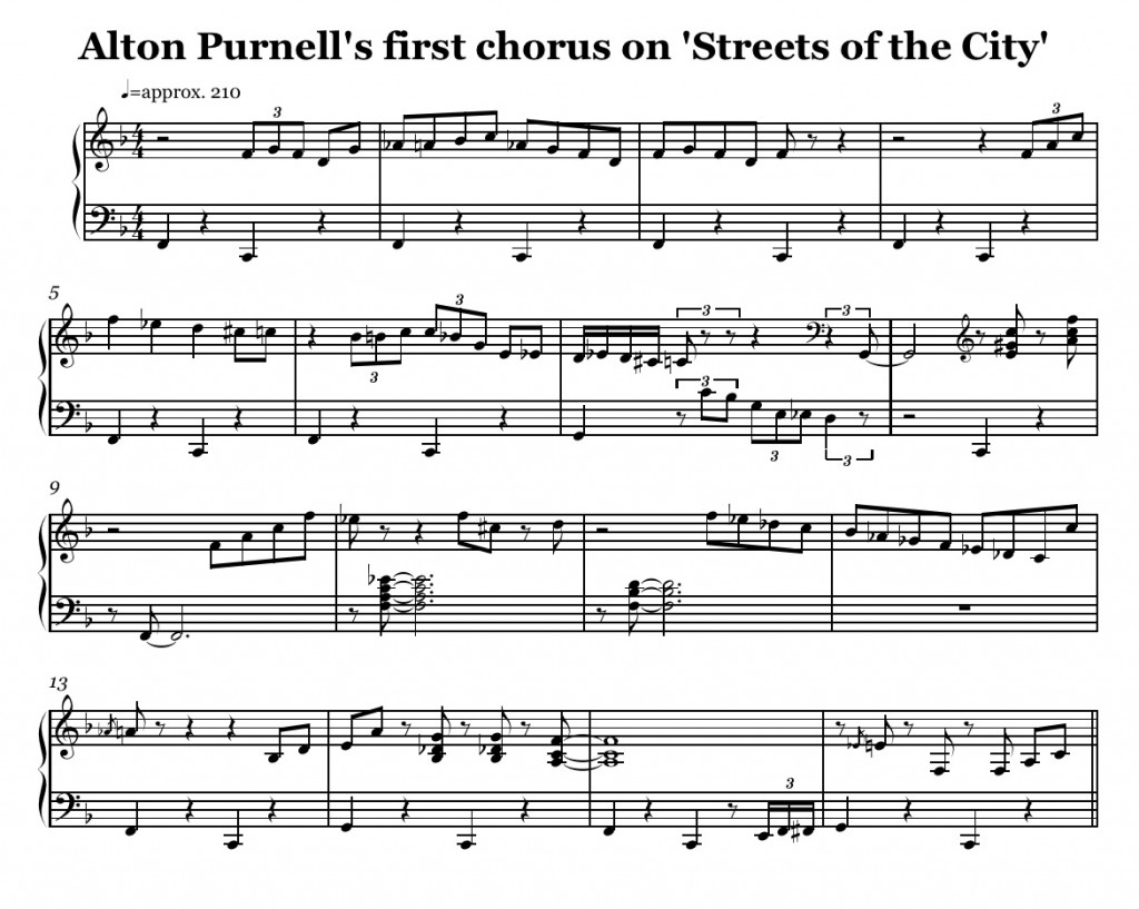 Alton Purnell s first chor