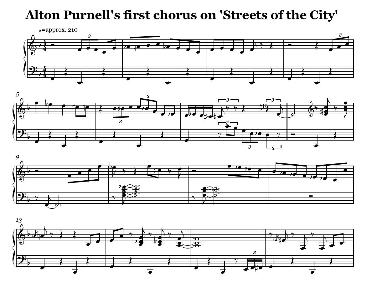 American tunes birdfeed alton purnell s first chor hexwebz Choice Image