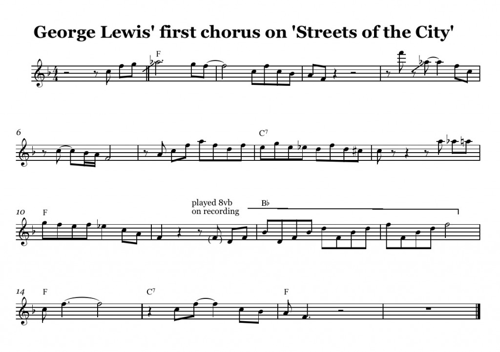George Lewis solo on Stre