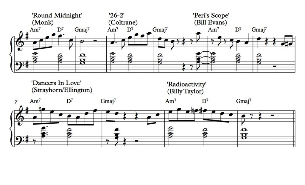 Root systems, part 4: Give it up for the root (position pattern)s! - Melodic patterns based on root position voicings