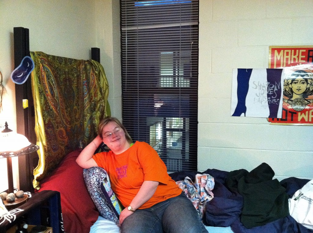 Student in a UVM Dorm