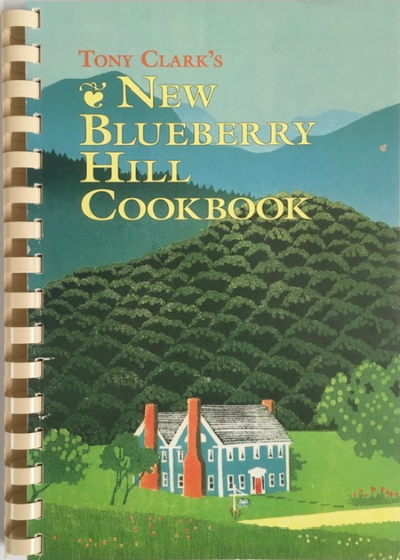 cover of New Blueberry Hill Cookbook showing inn and Vermont landscape