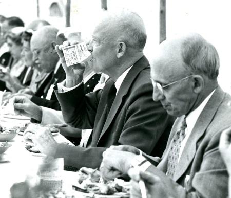 President Eisenhower at the Vermont Dairy Festival