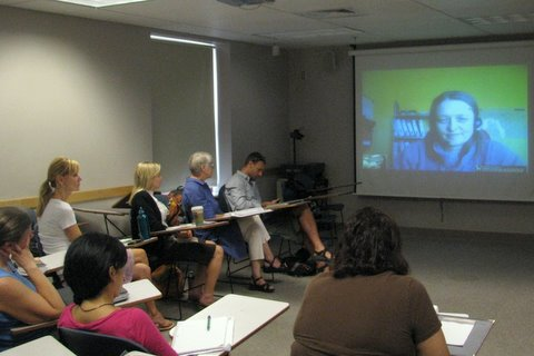 Video conference with guest lecturer, Dr. Anna Spenceley, editor of the textbook, Responsible Tourism.