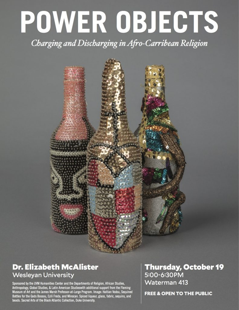 "This week: Dr. Elizabeth McAlister speaks on ""Power Objects"""