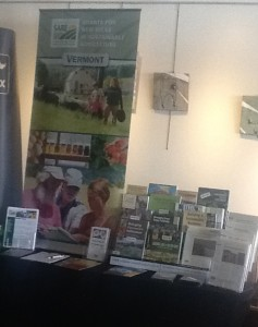 Northeast SARE display at 2013 Greenworks annual meeting and trade show.
