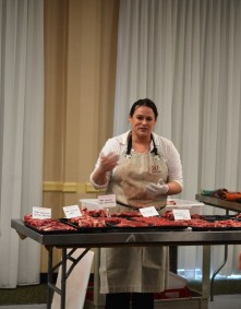 Kari Underly, author of The Art of Beef Cutting and co-founder of Grrls Meat Camp