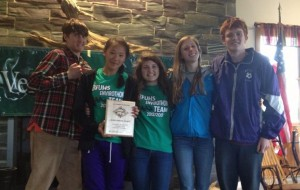 Bellows Falls Envirothon Team B won this year's Current Issue: Sustainable Grassland Management.  They are working with a farm family seeking to improve its land management after severe flooding damage from T.S. Irene.