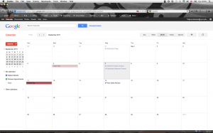 Screen shot of Google Calendar