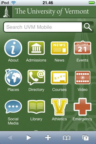UVM Mobile Screenshot