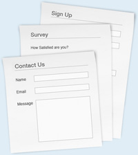 Several types of web forms